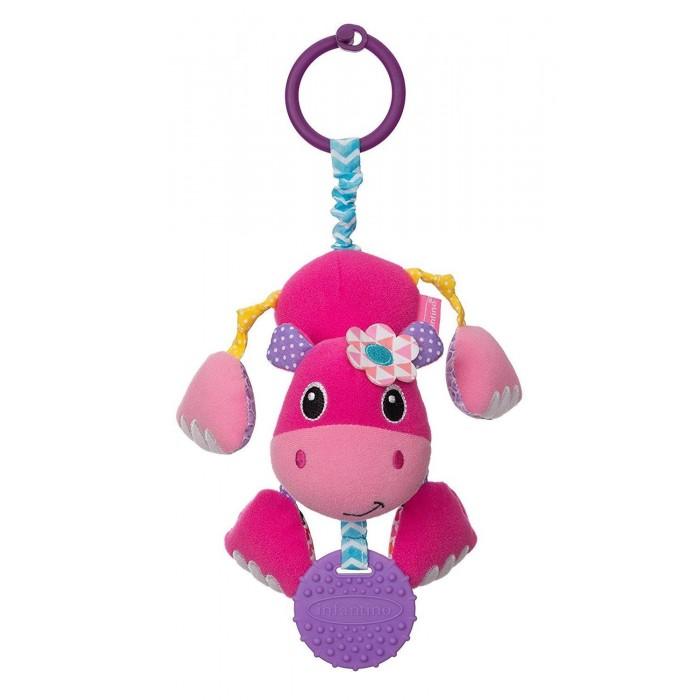 Картинка для Подвесные игрушки Infantino прорезыватель Дрожащий бегемотик