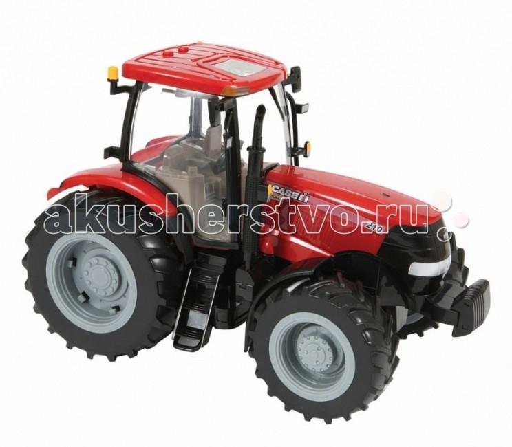 Tomy Трактор Case IH 210 PumaТрактор Case IH 210 PumaТрактор Case IH 210 Puma от Tomy- это уменьшенная модель настоящего сельскохозяйственного трактора, выполненная в высоком качестве и с большим вниманием к деталям.   Это универсальный компактный трактор, идеально подходящий для сельскохозяйственных работ.  Модель оснащена реалистичной съемной кабиной с открывающимися окнами, сиденьем водителя внутри и вращающимся рулем, капот открывается, предоставляя доступ к двигателю.  Сзади имеется крепление для прицепа.  Игрушка оснащена реалистичными световыми и звуковыми эффектами, фары светятся. У трактора мощные прорезиненные колеса, что обеспечивает сохранность напольного покрытия.  Благодаря высококачественному прочному пластику трактор замечательно подойдет и для игр на улице.  Совместим с другими моделями и игрушками серии Britains Big Farm, Tomy. Размер игрушки 24х33х22см Питание: 3ААА Вес: 1.328 кг Размер: 300 х 200 х 220 мм<br>