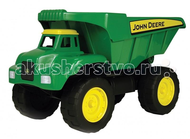 Tomy Большегрузный самосвал John DeereБольшегрузный самосвал John DeereБольшегрузный самосвал John Deere от японского бренда Tomy понравится юным фермерам и строителям, ведь он такой большой и удобный для перевозки любого груза.   Особенности:  самосвал выполнен в ярко-зеленом цвете;  легкий и маневренный;  не боится грязи, песка, камней;  откидной борт;  большие колеса с протектором;  обладает высокой износоустойчивостью;  легко моется под струей воды;  Вес: 2.95 Объем: 0.0235 Размер в упаковке: 23х41х21 см<br>