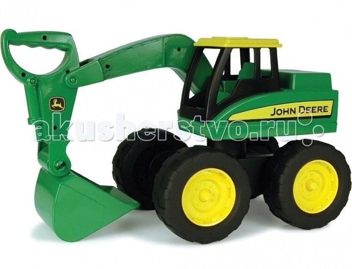 Машины Tomy Большегрузный экскаватор John Deere машины tomy трактор john deere monster treads с большими резиновыми колесами