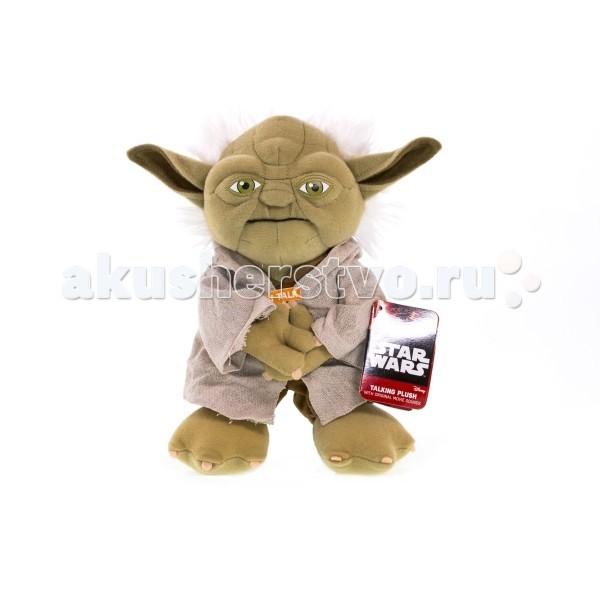 Мягкая игрушка Star Wars Звездные войны Йода плюшевый со звуком
