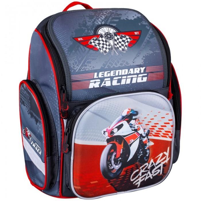 Купить Школьные рюкзаки, Berlingo Ранец Comfy Moto 35.5x32x17 см