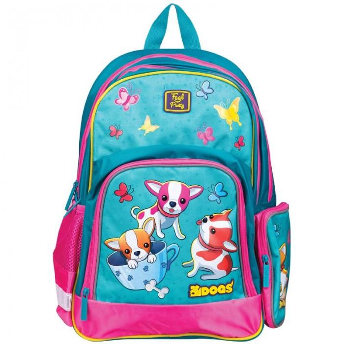 Купить Школьные рюкзаки, Berlingo Рюкзак Light Funny puppy 42x28x17 см