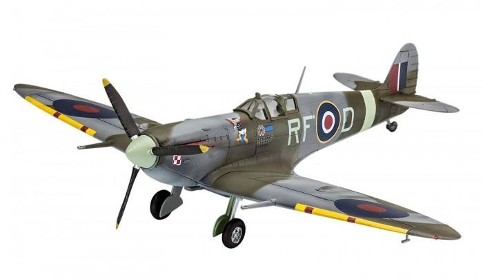 Купить Конструкторы, Конструктор Revell Британский самолет Спитфайр с клеем, красками и кисточкой