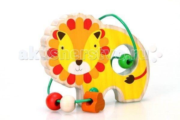 Деревянные игрушки Мир деревянных игрушек (МДИ) Лабиринт Лев мир деревянных игрушек мди лабиринт каталка лев