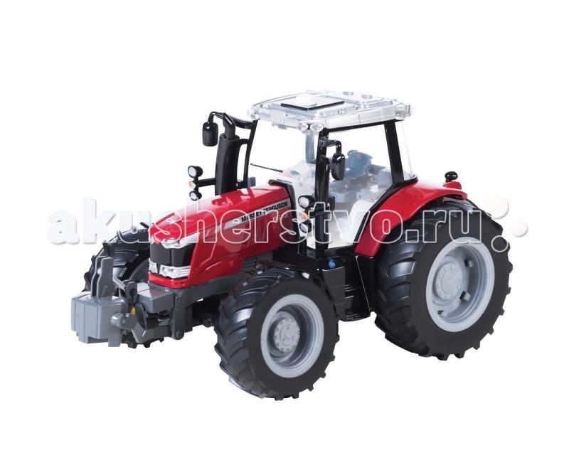 Машины Tomy Трактор John Deere Massey Ferguson 6613 с подсветкой и звуком машины tomy john deere трактор monster treads с большими колесами и вибрацией