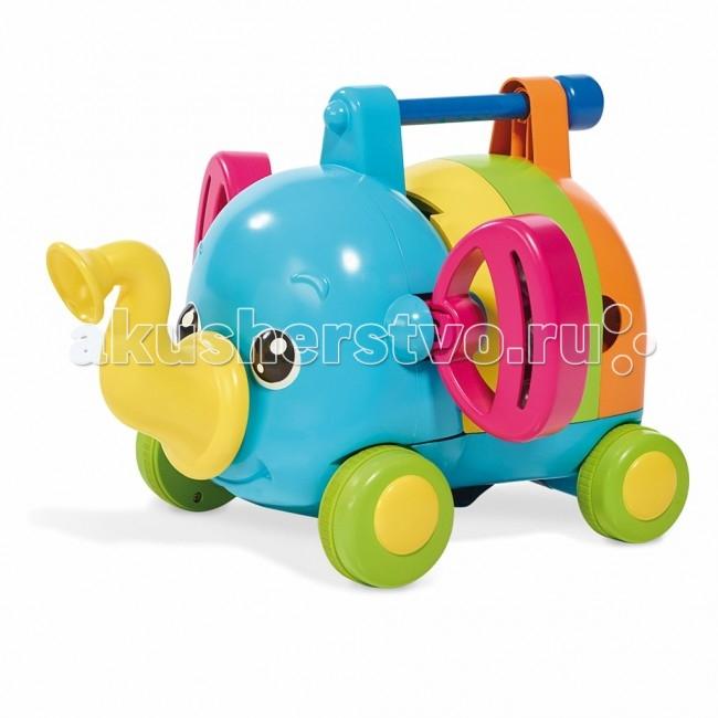 Каталка-игрушка Tomy трансформер Слоненок-Оркестртрансформер Слоненок-ОркестрСлонёнок-Оркестр - это не просто музыкальная игрушка-каталка, это набор музыкальных инструментов, на которых кроха может играть.   Каждый элемент слоника представляет собой определенный музыкальный инструмент:  - ксилофон - губную гармошку - барабан  Ушки слоненка превращаются в две забавные погремушки.  С такой игрушкой малыш узнает много нового о музыкальных инструментах и даже сможет устроить свой собственный «концерт»!  Слоненок-оркестр развивает музыкальный слух крохи и дарит много радости и веселья. Размер: 21 x 29 x 30 см. Вес: 1.223 кг Объем: 0.0182<br>