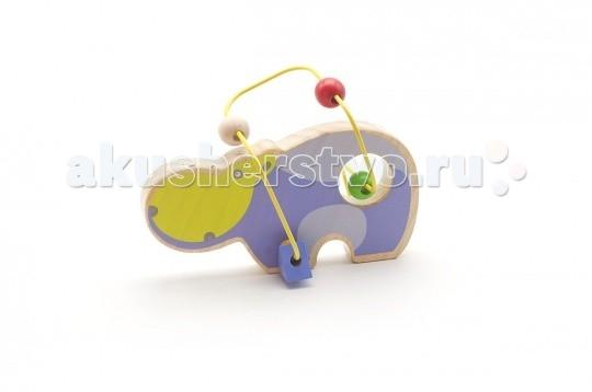 Деревянные игрушки Мир деревянных игрушек (МДИ) Лабиринт Бегемот деревянные игрушки мир деревянных игрушек мди лабиринт лев