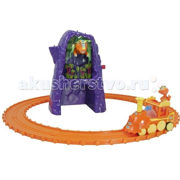 Железные дороги Tomy Железная дорога Поезд динозавров: Добро пожаловать в Рексвиль игровые наборы tomy игровой набор приключения трактора джонни и лошади на ферме