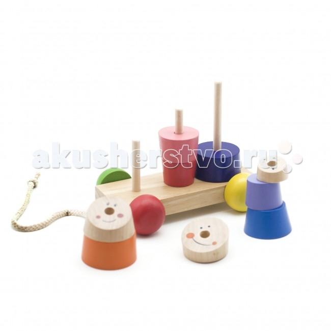 Каталки-игрушки Мир деревянных игрушек с пирамидками мир деревянных игрушек конструктор каталка полиция