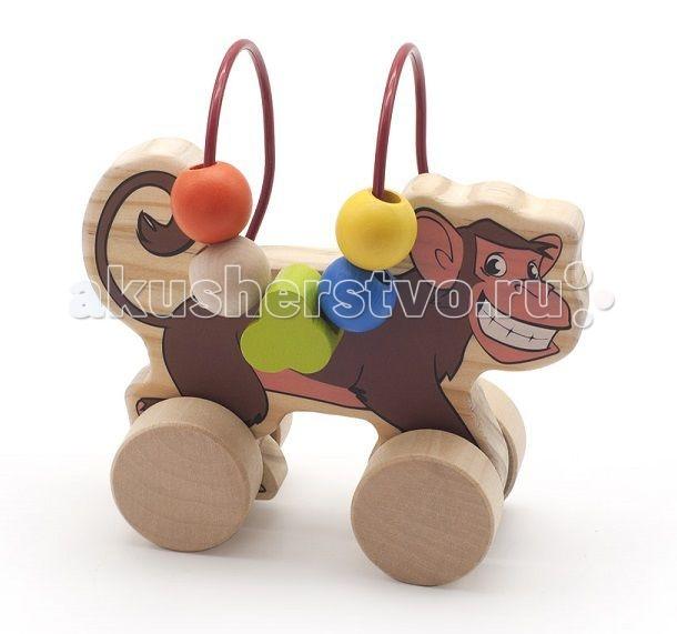 Каталки-игрушки Мир деревянных игрушек (МДИ) Лабиринт-каталка Обезьяна мир деревянных игрушек лабиринт каталка жираф