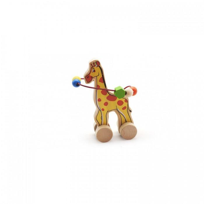 Каталки-игрушки Мир деревянных игрушек (МДИ) Лабиринт-каталка Жираф игрушка мир деревянных игрушек лабиринт каталка крокодил д362