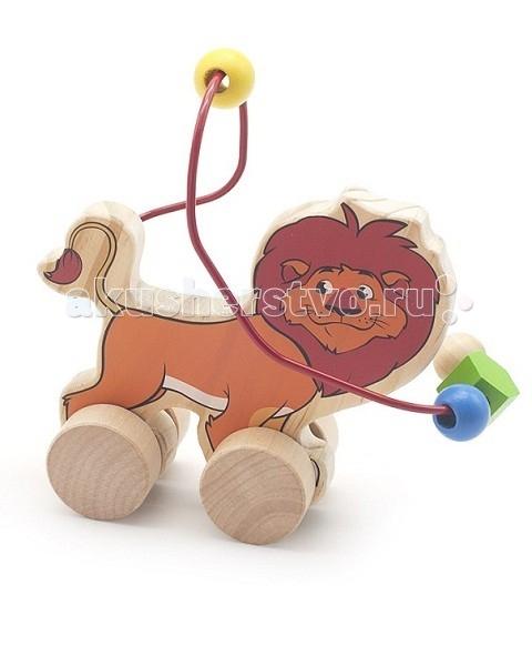 Каталки-игрушки Мир деревянных игрушек (МДИ) Лабиринт-каталка Лев игрушка мир деревянных игрушек лабиринт каталка лев д359