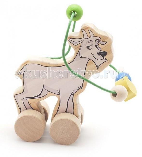 Каталки-игрушки Мир деревянных игрушек (МДИ) Лабиринт-каталка Козел игрушка мир деревянных игрушек лабиринт каталка крокодил д362
