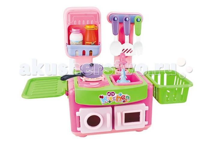 Zhorya Кухня с аксессуарами Х75732Кухня с аксессуарами Х75732Известно, что сюжетно-ролевые игры не только увлекательны, но и весьма познавательны для ребенка, они способствуют развитию воображения, логики и понимания причинно-следственной связи.   Кухня детская Zhorya Х75732 со световыми и звуковыми эффектами станет отличным подарком для вашей любимой доченьки и даст ей возможность ощутить себя настоящей хозяюшкой, ведь девочки так любят подражать своим мамам.  Модель выполнена в виде игрового центра, стилизованного под настоящую кухню; имеется мойка, шкафчики, посудка, продукты и т.д. Составляющие набора изготовлены из высококачественных, безопасных для здоровья ребенка материалов. Предназначено для детей в возрасте от 3-х лет.  Размер 24х20х31.5 см<br>