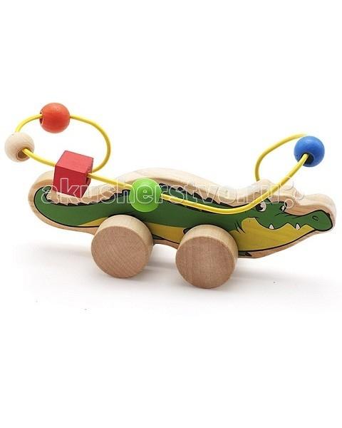 Каталки-игрушки Мир деревянных игрушек (МДИ) Лабиринт-каталка Крокодил игрушка мир деревянных игрушек лабиринт каталка лев д359