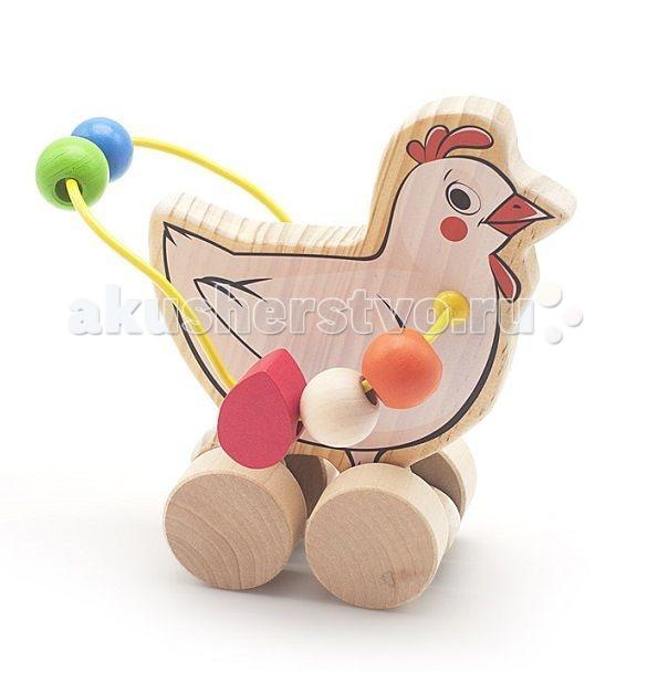 Каталки-игрушки Мир деревянных игрушек (МДИ) Лабиринт-каталка Курица игрушка мир деревянных игрушек лабиринт каталка лев д359