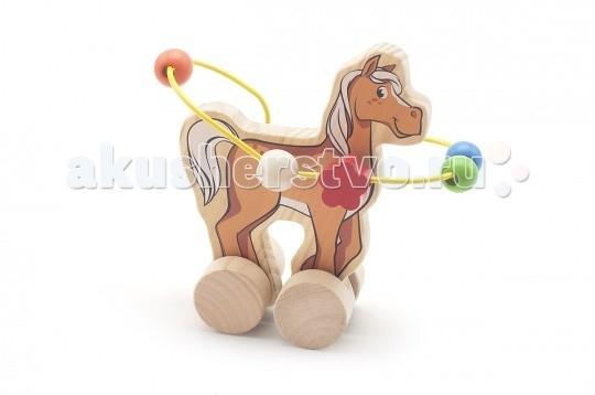 Каталки-игрушки Мир деревянных игрушек (МДИ) Лабиринт-каталка Лошадь игрушка мир деревянных игрушек лабиринт каталка лев д359