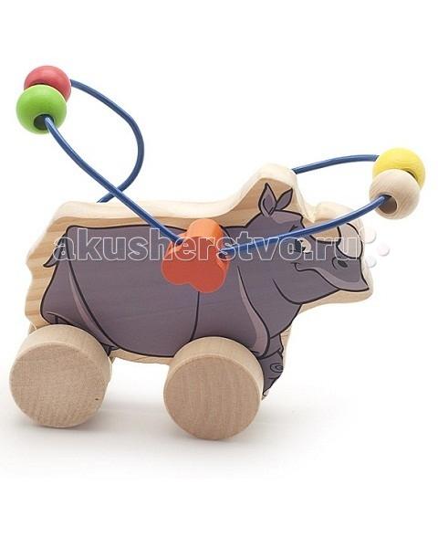 Каталки-игрушки Мир деревянных игрушек (МДИ) Лабиринт-каталка Носорог игрушка мир деревянных игрушек лабиринт каталка лев д359