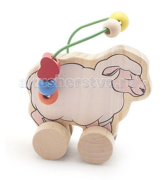 Каталки-игрушки Мир деревянных игрушек (МДИ) Лабиринт-каталка Овца деревянные игрушки мир деревянных игрушек мди лабиринт лев