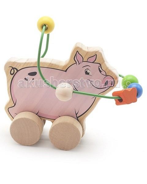 Каталки-игрушки Мир деревянных игрушек (МДИ) Лабиринт-каталка Свинья игрушка мир деревянных игрушек лабиринт каталка лев д359