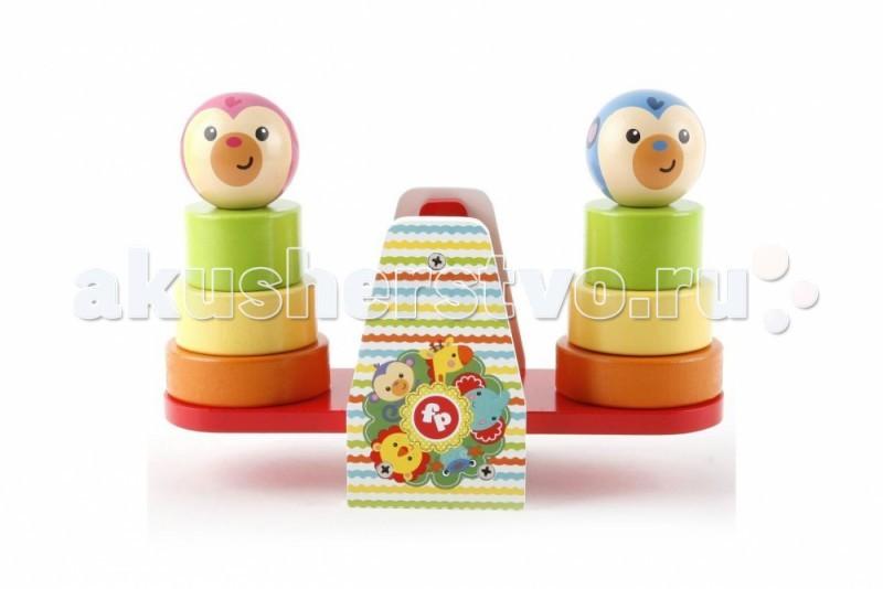 Деревянная игрушка Fisher Price Пирамидки на качелях