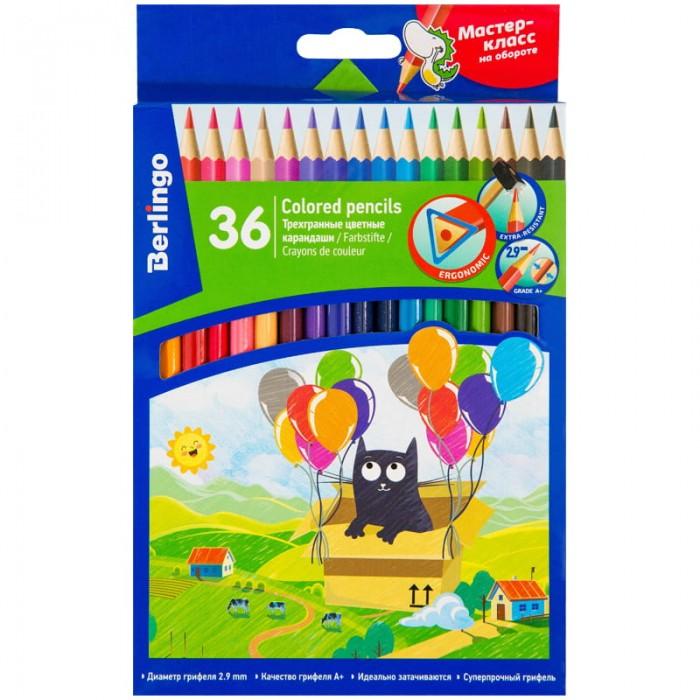Карандаши, восковые мелки, пастель Berlingo Карандаши цветные Жил-был кот 36 цветов