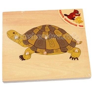 Пазлы Мир деревянных игрушек (МДИ) Пазлы Черепаха пазлы бомик пазлы книжка репка