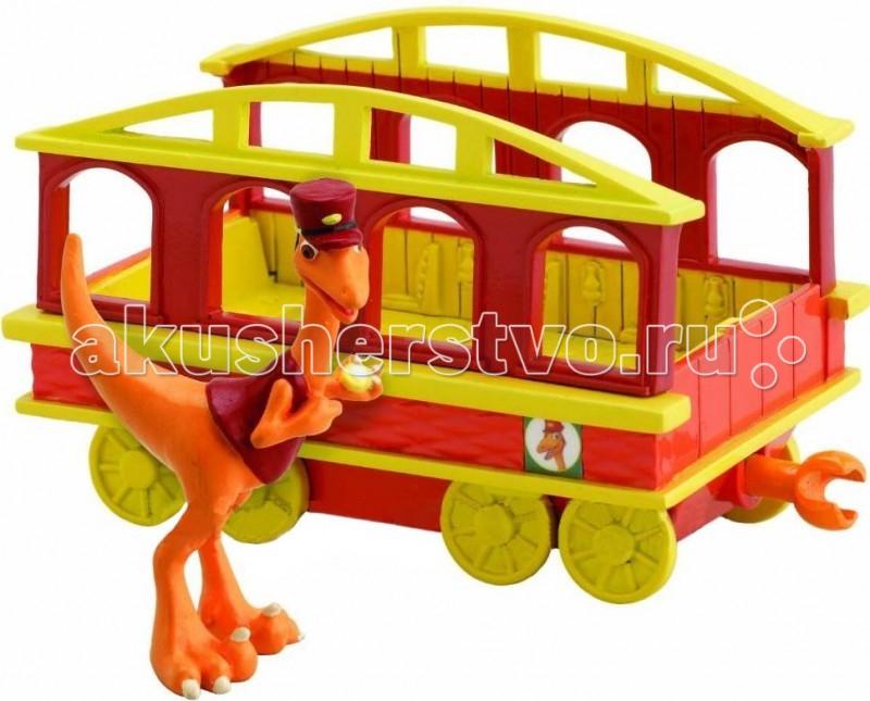 Игровые наборы Tomy Набор Поезд Динозавров Кондуктор с вагончиком игровые наборы tomy набор поезд динозавров кондуктор с вагончиком