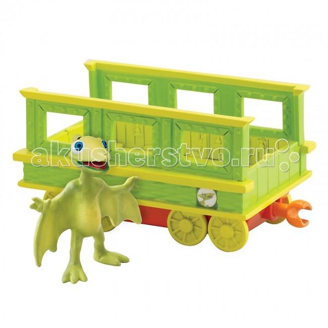 Игровые наборы Tomy Набор Поезд динозавров Тайни с вагончиком игровые наборы tomy набор поезд динозавров кондуктор с вагончиком