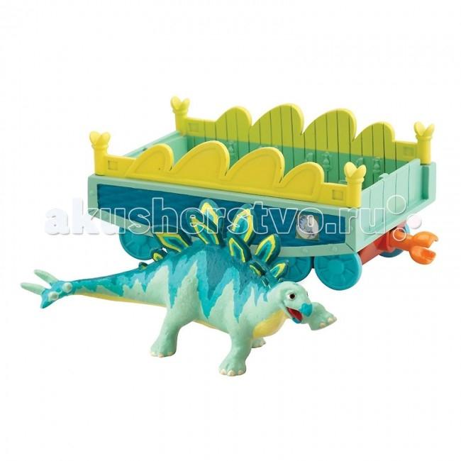 Игровые наборы Tomy Набор Поезд динозавров Морис с вагончиком игровые фигурки tomy набор фигурок поезд динозавров старый спинозавр и x ray орен