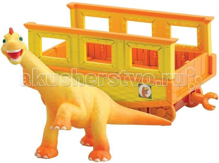Игровые наборы Tomy Набор Поезд Динозавров Нэд с вагончиком игровые наборы tomy набор поезд динозавров тайни с вагончиком