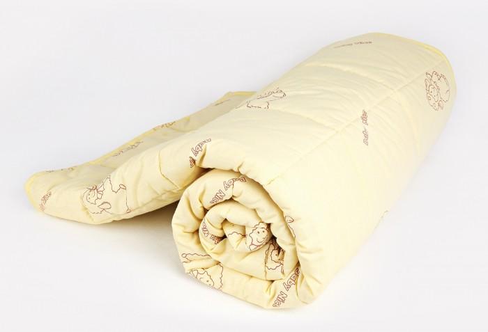 Одеяла Baby Nice (ОТК) стеганое, овечья шерсть микрофибра 105х140 см одеяло облегченное iv20338 овечья шерсть микрофибра 1 5 спальный 140 205