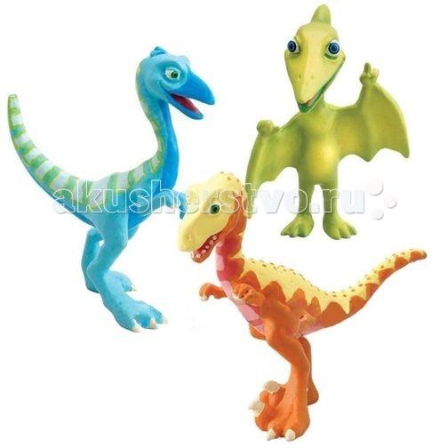 Игровые фигурки Tomy Набор фигурок Поезд динозавров Дерек, Олли, Мистер Птеранодон игровые фигурки tomy набор фигурок поезд динозавров старый спинозавр и x ray орен