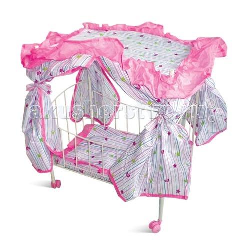 Кроватка для куклы 1 Toy Т52273