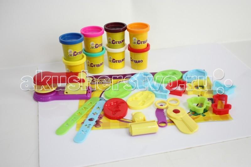 Всё для лепки 1 Toy Студио Набор теста для лепки Животные 8 цветов всё для лепки 1 toy набор теста для лепки кексы 4 цвета
