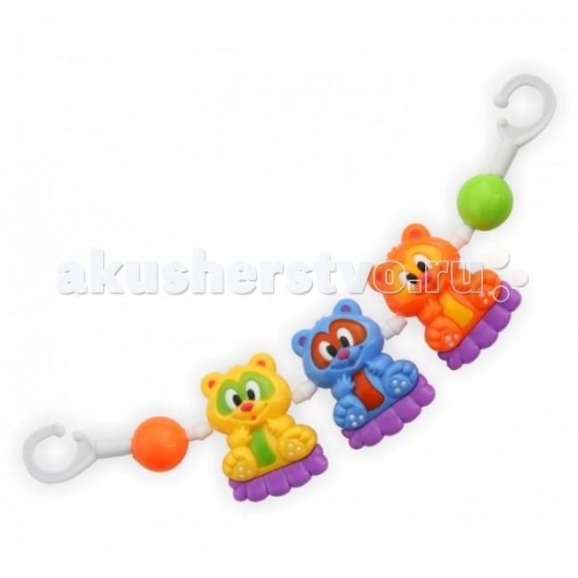 Дуги для колясок и автокресел Baby Mix Растяжка на коляску Мишки дуги для колясок и автокресел tolo toys кролики