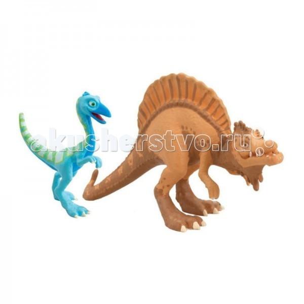 Игровые фигурки Tomy Набор фигурок Поезд динозавров Старый Спинозавр и X-Ray Орен игровые наборы tomy набор поезд динозавров тайни с вагончиком