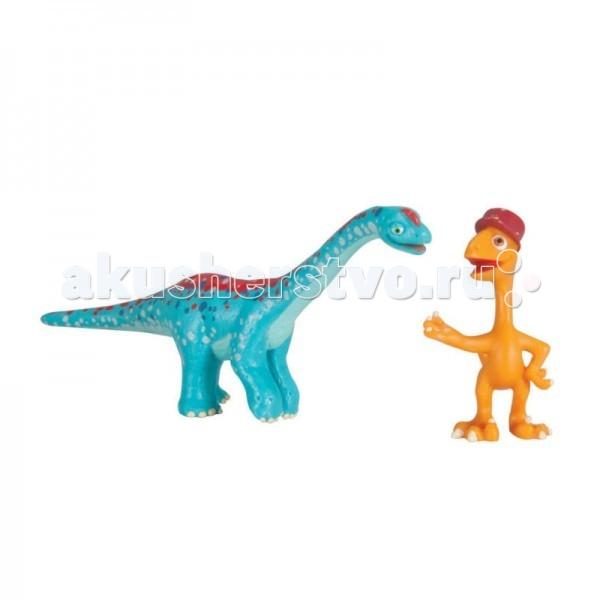 Игровые фигурки Tomy Набор фигурок Поезд динозавров Арни и X-Ray Гилберт игровые фигурки tomy набор фигурок поезд динозавров старый спинозавр и x ray орен