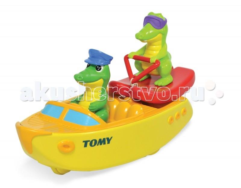 Игрушки для ванны Tomy Игрушка для ванны Крокодил на водных лыжах игрушки для ванны сказка игрушка для купания транспорт