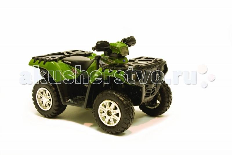 Машины Tomy Квадроцикл Polaris ATV Quad с подсветкой и звуком машинки tomy трактор с большими колесами с подсветкой и звуком