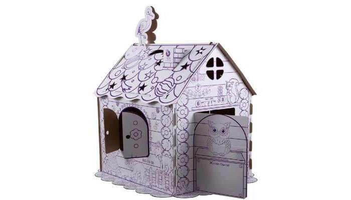 Фото - Игровые домики ПМДК Картонный игровой домик-раскраска mochtoys раскраска картонный домик 10721