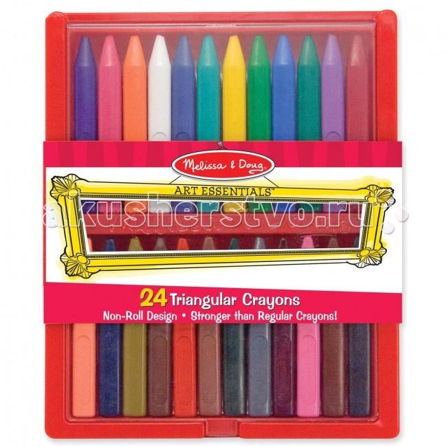 Карандаши, восковые мелки, пастель Melissa & Doug Цветные мелки восковые 24 шт.