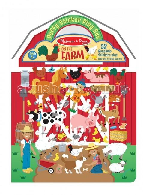 детские зонтики melissa Детские наклейки Melissa & Doug Набор стикеров Ферма