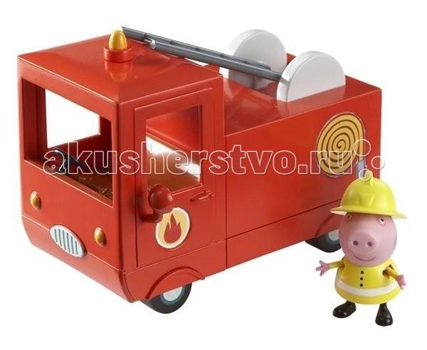 Игровые наборы Свинка Пеппа (Peppa Pig) Игровой набор Пожарная машина Пеппы игровой набор peppa pig семья пеппы папа свин и джорж 2 предмета от 3 лет 20837