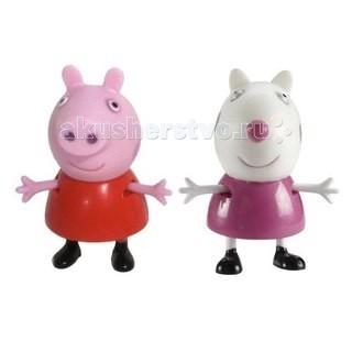 Игровые наборы Свинка Пеппа (Peppa Pig) Игровой набор Пеппа и Сьюзи 5 см игровые наборы tomy игровой набор приключения трактора джонни и лошади на ферме