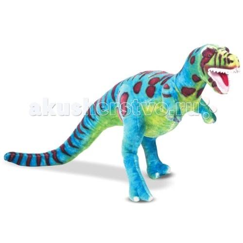Мягкая игрушка Melissa &amp; Doug Динозавр 75 смДинозавр 75 смМягкая игрушка Melissa & Doug Динозавр 75 см - симпатичный мягкий динозавр, выполнен из высококачественного и приятного на ощупь материала, не оставит равнодушным ни ребенка, ни взрослого и вызовет улыбку у каждого, кто его увидит.  Превосходное качество и внимание к деталям делают мягкие игрушки Melissa & Doug таким привлекательным!  Игрушка изготовлена из экологически чистых, натуральных, безопасных для ребенка материалов.   Melissa & Doug - ведущий мировой производитель игрушек из натуральных материалов, прежде всего из дерева. Вся производимая продукция отличается надежностью, экологичностью и безопасностью для ребенка. Игрушки данной торговой марки предназначены не только для развлечения детей, а в первую очередь ориентированы на раннее развитие и обучение.<br>