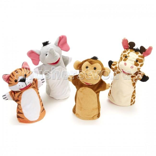 Мягкая игрушка Melissa & Doug Плюшевые куклы на руку Зоопарк