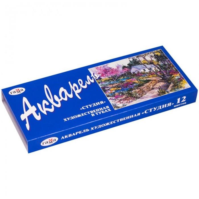 Краски Гамма Акварель Студия художественная 12 цветов 9 мл гамма акварельные краски художественные студия 18 цветов в кюветах 215003