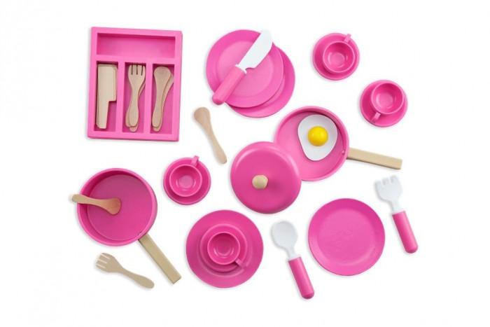 Деревянная игрушка Troys Набор посуды (36 деталей)